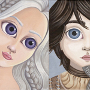 "Illustrations inspirées des personnages de ""A song of Ice and fire"""